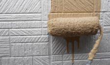 外壁の下塗りから中塗り