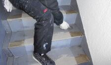 階段防水④