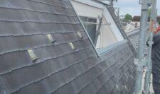 屋根カバー施工写真①