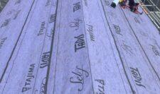 屋根カバー施工写真②
