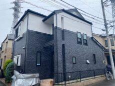 足立区 Y様邸 外壁塗装(ダブルトーン)・屋根塗装工事・ベランダ防水工事